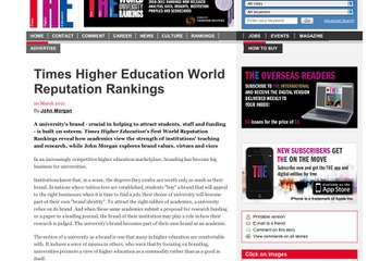 Times Higher Education World Reputation Rankings