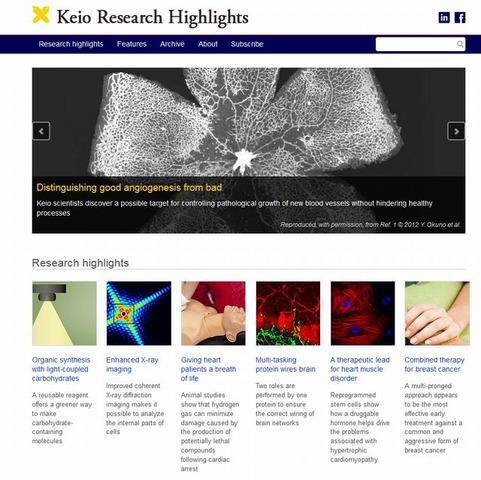 「Keio Research Highlights」ホームページ