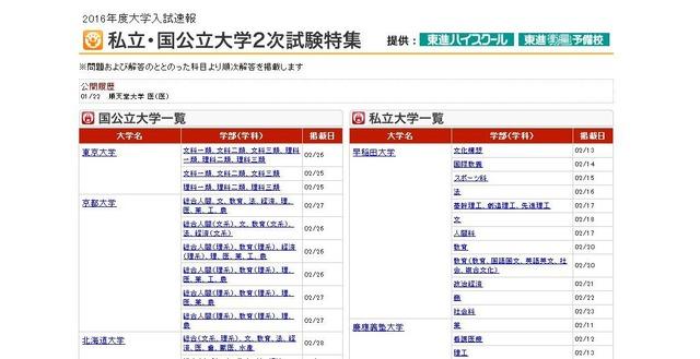 日 大学 国 公立 試験 【大学受験2020】公立大学の入試日程…前期2/25・中期3/8・後期3/12から実施