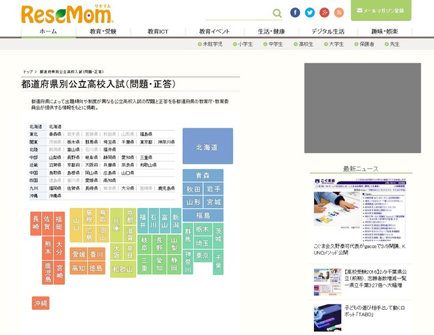 福島県高校入試 2020 難易度