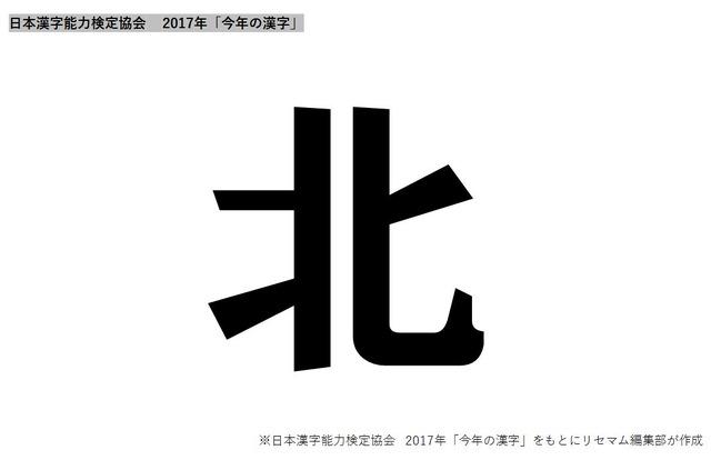 2017年「今年の漢字」は「北」…北朝鮮や7月の九州北部豪雨、北海道日本 ...