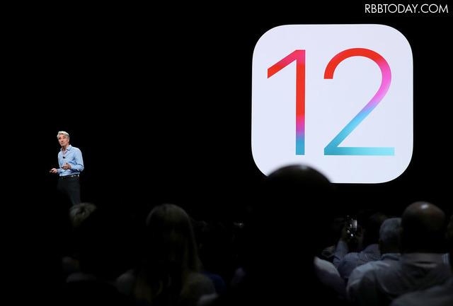 iOS 12を発表した。(c)GettyImages