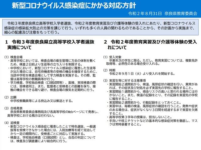 県 新型 肺炎 奈良
