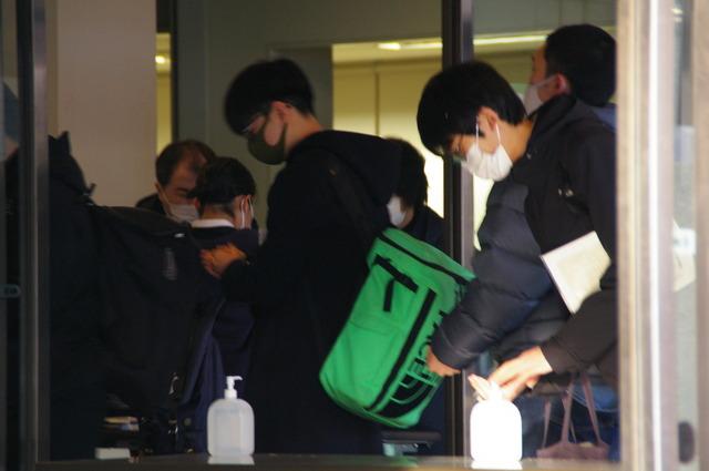 大学入学共通テストの北海道大学試験場のようす
