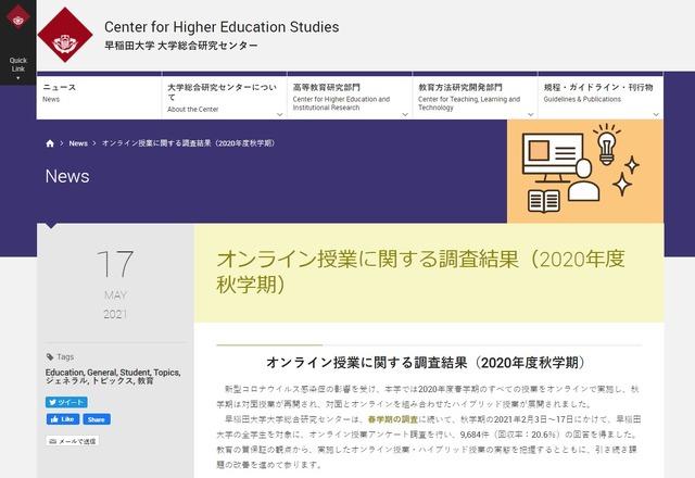 2021 大学 オンライン 授業