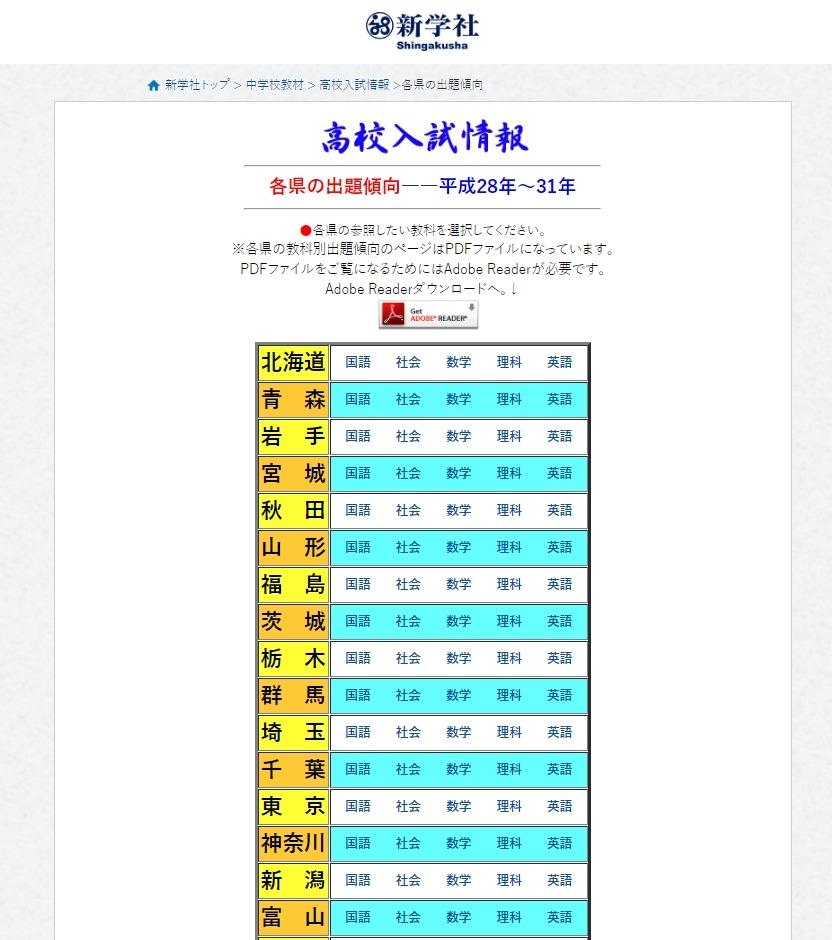 高校受験2020】47都道府県の出題傾向と対策 | リセマム