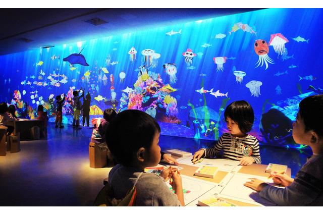 TOKYO DESIGN WEEKにチームラボ「お絵かき水族館」が登場 画像