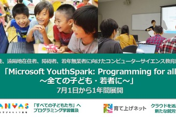 「Microsoft YouthSpark:Programming for all~全ての子ども・若者に~」3者が協力