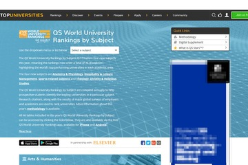 The QS World University Rankings by Subject 2017