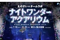 新江ノ島水族館×チームラボ、夜のスペシャルイベント12/25まで