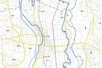 【台風18号】鬼怒川堤防決壊による浸水地域の地図公開 画像