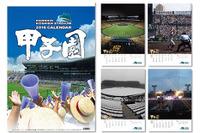 高校野球やバックスクリーンの写真を使用「甲子園球場カレンダー2016」 画像