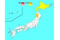 【インフルエンザ15-16】患者数4,290人で前週比増、4道府県に注意報 画像