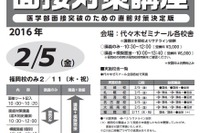 【大学受験2016】代ゼミ、国公・慶大医学部向け「面接直前対策」 画像