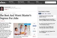 就職に役立つ修士号と役立たない修士号のランキング…フォーブス調査 画像