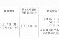 【大学受験2014】京大(前)第1段階選抜合格発表、文・教育学部などで足切りなし