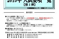 【中学受験2015】首都圏模試センター、入試要項一覧を公表 画像