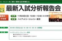 【小学受験2015】伸芽会「最新入試分析報告会」11/23