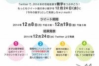 日本数学検定協会、今年の世相を表す「数字」をTwitterで募集 画像