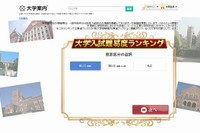 【大学受験2015】東進「大学入試難易度ランキング」発表 画像