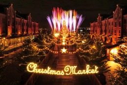 毎年恒例、横浜赤レンガ倉庫のクリスマス…「シュタイフ社」のテディベア初登場
