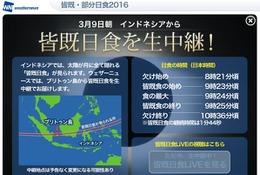 3月9日午前9時23分「皆既日食」生放送、日本でも観察チャンス