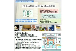 大学は美味しい!! 農水省で大学オリジナル食品を紹介5/9-13