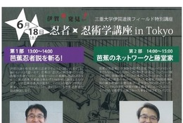 東京で忍者・忍術学講座6/18開催…三重大が先着60名募集