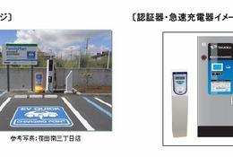 ファミマート全国500店に電気自動車向け急速充電器