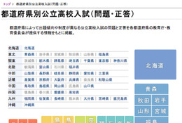 【高校受験】全国の2014年度公立高校入試「問題・正答」を無料公開