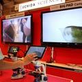 UCHIDA SCIENCE ミジンコのようすをタブレットと大型モニターへ投影