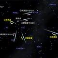 ふたご座流星群の見分け方 (c) 国立天文台