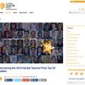 Varkey Foundation「the 2016 Global Teacher Prize Top 50」