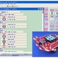 「サッカーロボット」のプログラミング画面