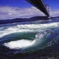 「うずしおクルーズ」では、淡路島の壮大な自然を感じることができる