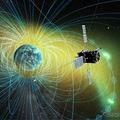 ジオスペース探査衛星のイメージ図