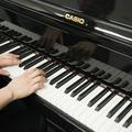 グランドピアノ同様の鍵盤のタッチ(撮影:平岩享)