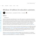 Microsoft TechNet 「Windows 10 editions for education customers」(原文の一部)