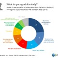 What do young adults study? 学位について
