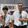 Team Happy Futures<レギュラーカテゴリーミドル競技高校生部門第3位> 画像提供:WRO Japan実行委員会