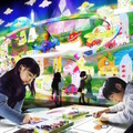 お絵かきタウン/Sketch Town  teamLab, 2014-, Interactive Digital Installation, Sound: Hideaki Takahashi, teamLab