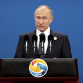 ロシアの「プーチン」大統領 (Photo by Mark Schiefelbein-Pool/Getty Images)