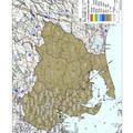 愛知県内の地表面へのセシウム134、137の沈着量の合計