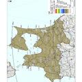青森県内の地表面へのセシウム134、137の沈着量の合計