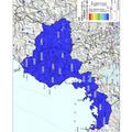 福井県内の地表面から1m高さの空間線量率