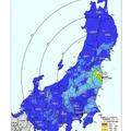 文部科学省がこれまでに測定してきた範囲及び愛知県、青森県、石川県、 及び福井県内における地表面から1m高さの空間線量率