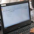 実験の結果や考察を「OneNote」に書き込む