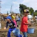 子どもたちによるボランティア作業風景