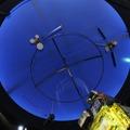 種子島宇宙センター施設(西館天井・人工衛星のしくみとはたらきゾーン)