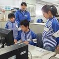 佐川急便での職業体験の様子